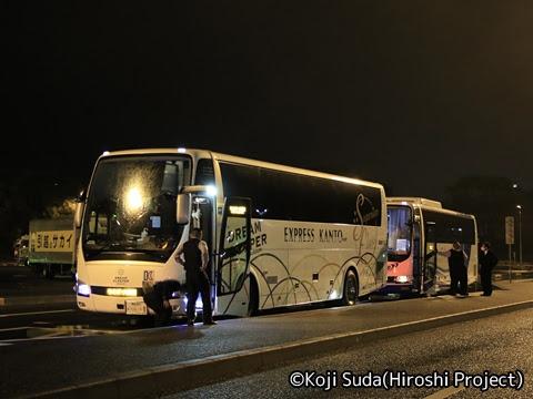 関東バス「ドリームスリーパー東京大阪号」 ・・・1 足柄SAにて