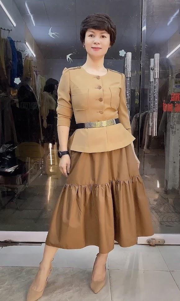 Áo Peplum che bụng phối đồ công sở dạo phố V800 thời trang thủy hà nội
