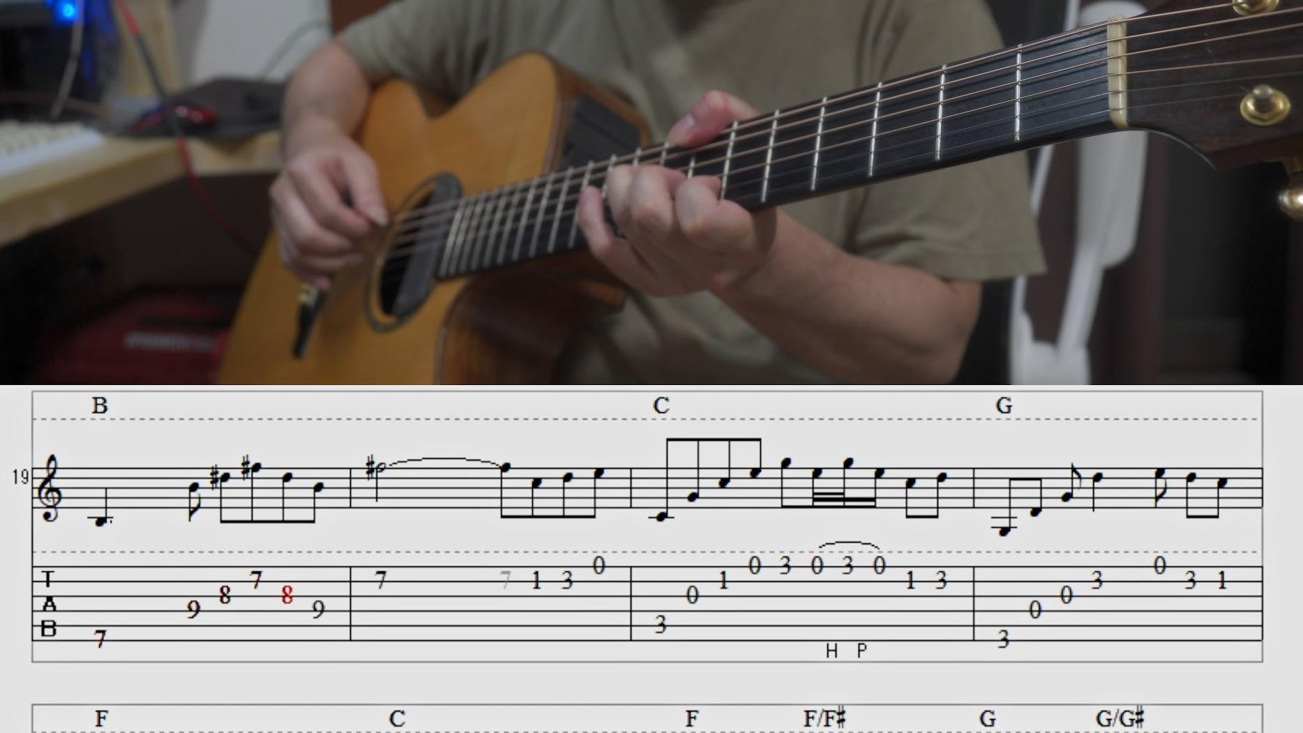 癒しのSolo Guitar「緑風」TAB譜付
