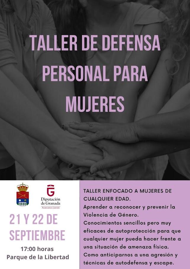 Taller de defensa personal para mujeres 2021