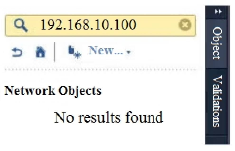 What does it mean if Bob gets this result on an object search? Refer to the image below. Choose the BEST answer.