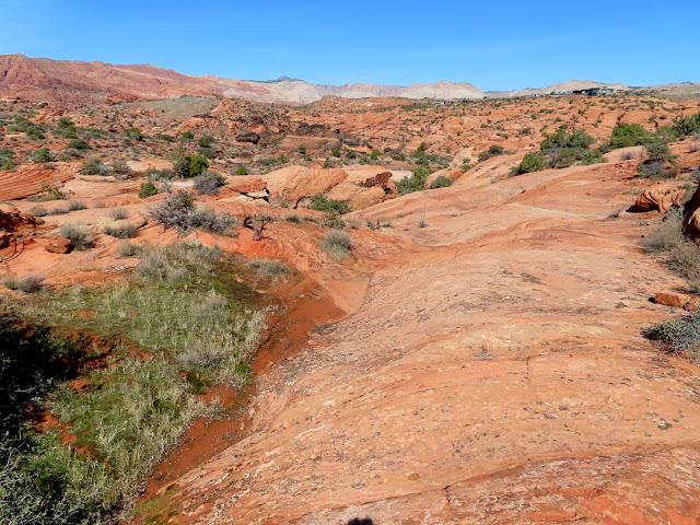 Descending the slickrock