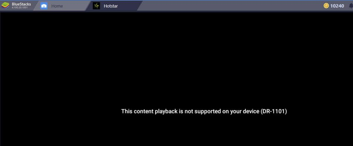 This content playback is not supported on your device (DR-1101)