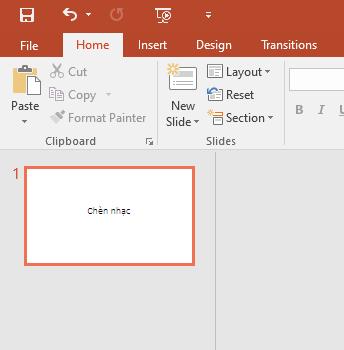 Chọn file - Chèn nhạc vào Powerpoint