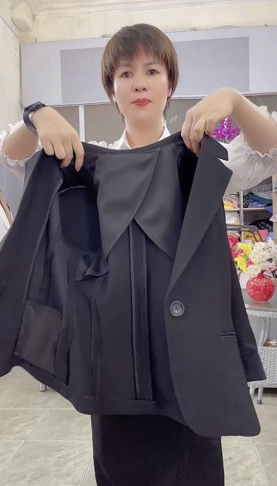 áo vest nữ may bằng 1 lớp vải thời trang thủy quảng ninh