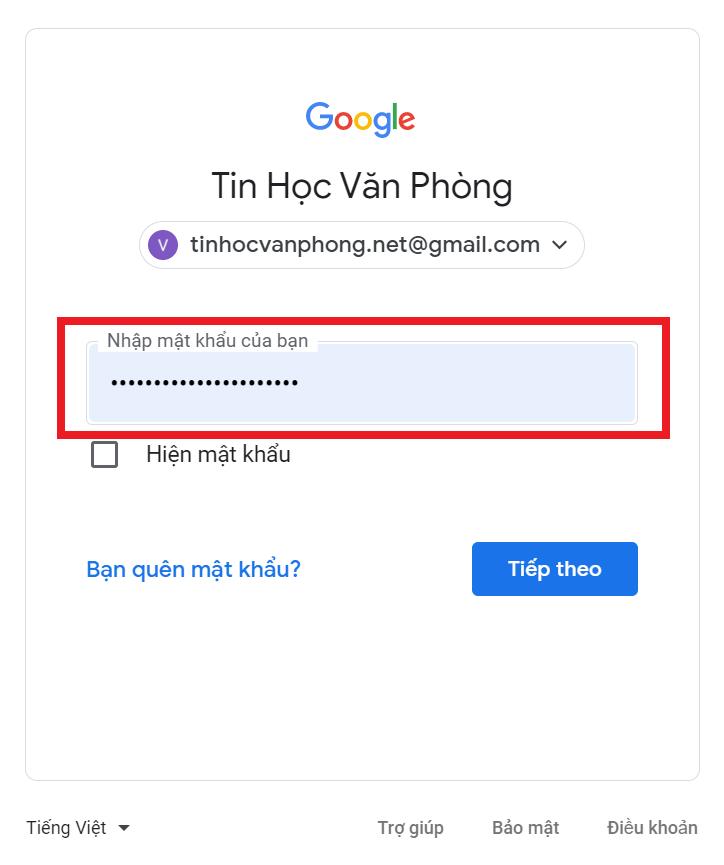 đăng ký tài khoản gmail