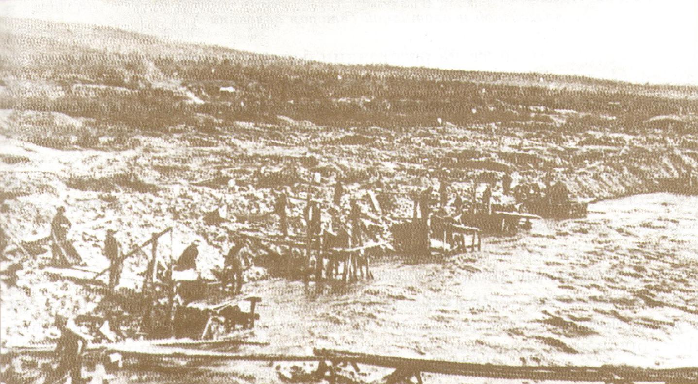 Ямная добыча золота на реке Бодайбо, XIX век