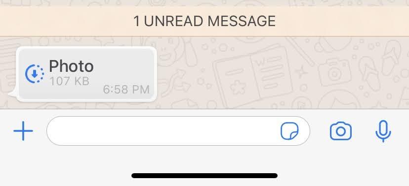 Whatsapp Disappearing Photos