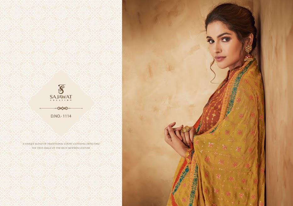 Buy Sajawat Creation Pankhi Vol 2 Readymade Palazzo Ladies S