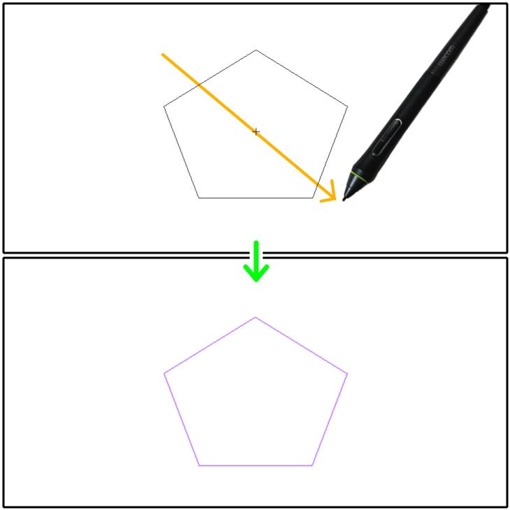 クリスタ図形定規の設置