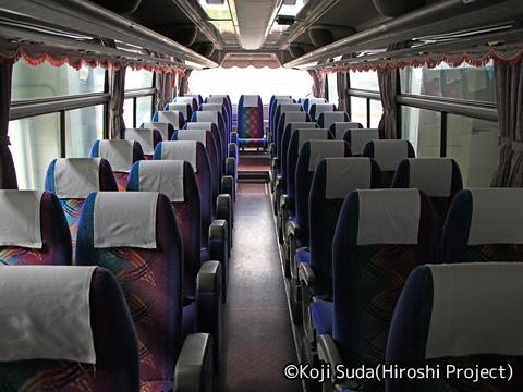 斜里バス「ウトロ羅臼線」 ・213 車内