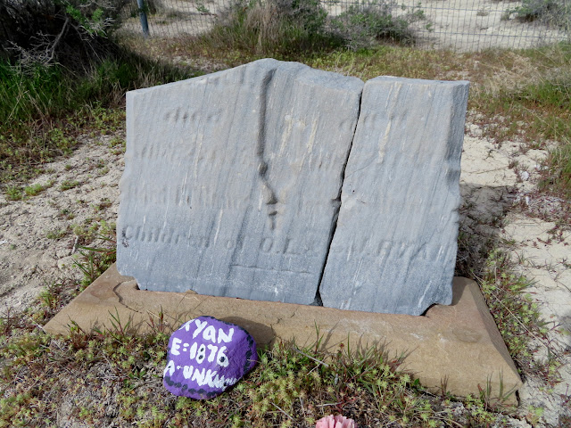 Weathered headstone at Kelton Cemetery