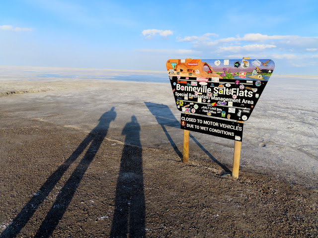 Sign at the Bonneville Salt Flats