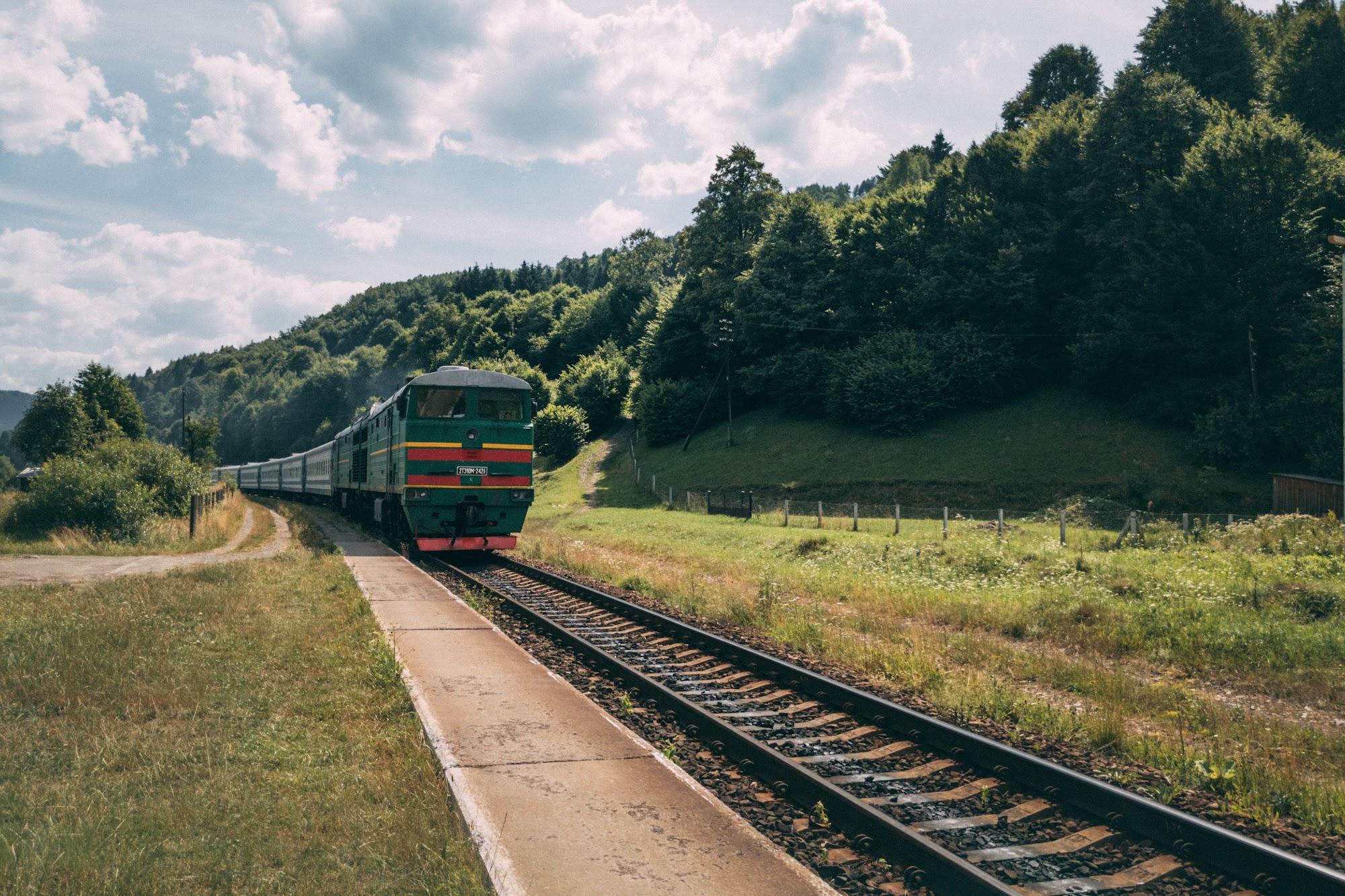 Поїзд Рахів - Харків, через Кваси
