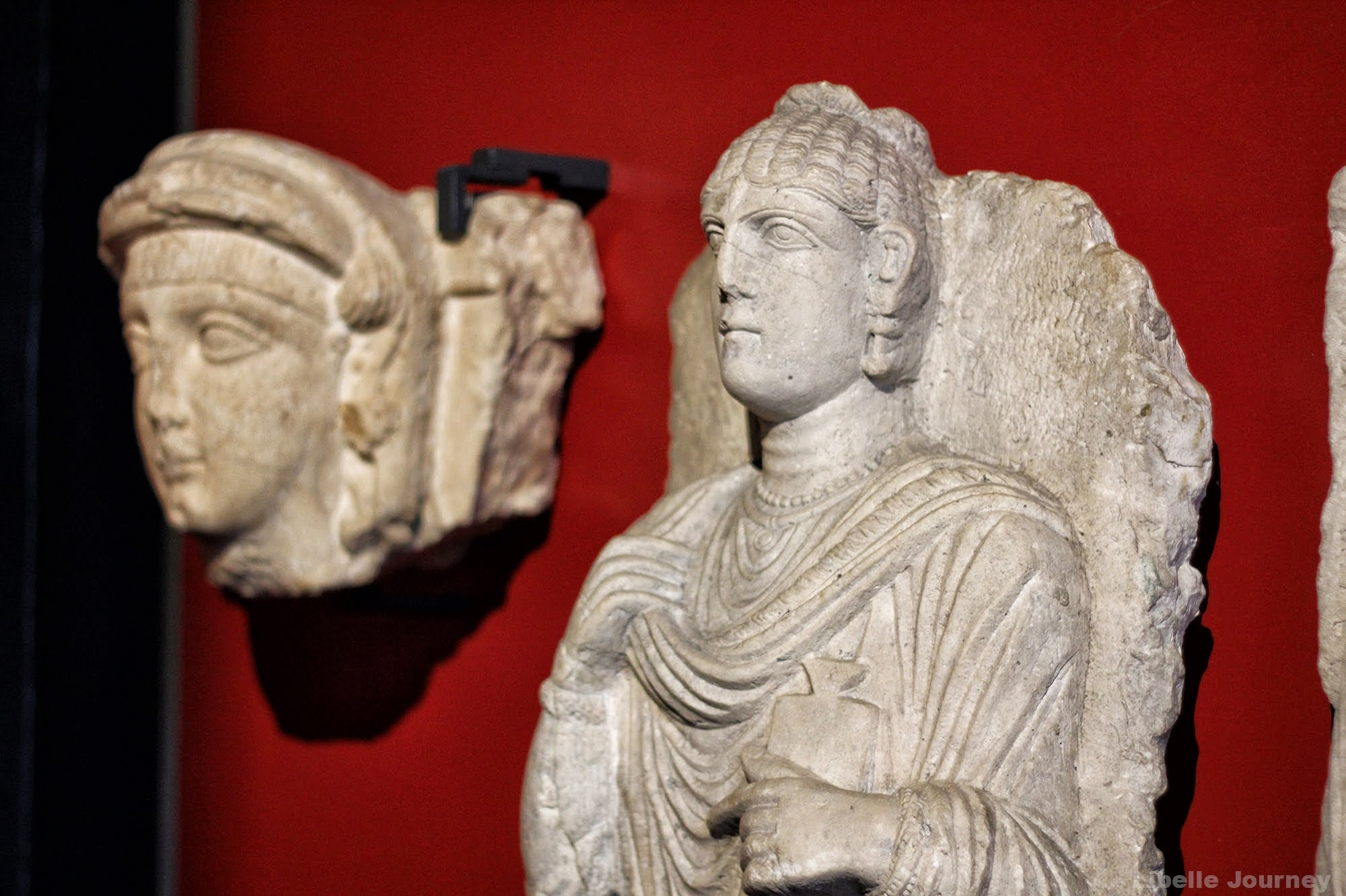 series of funerary portraits, from the rock tombs of Palmyra
