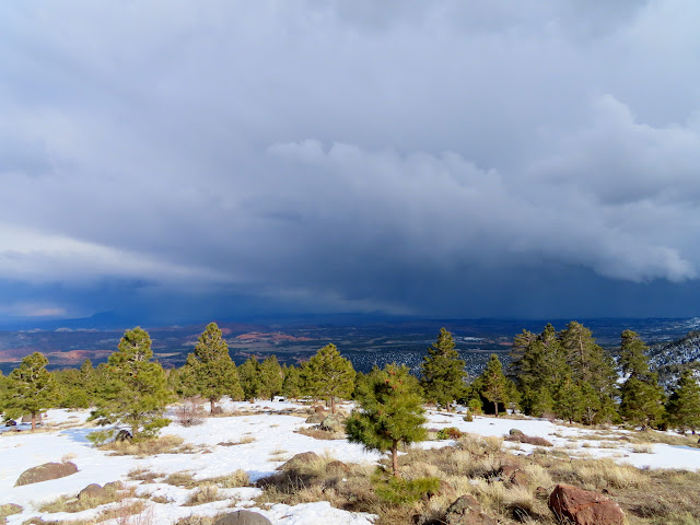 Stormy weather east of Boulder Mountain