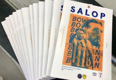 Shrews programme printed in Welshpool