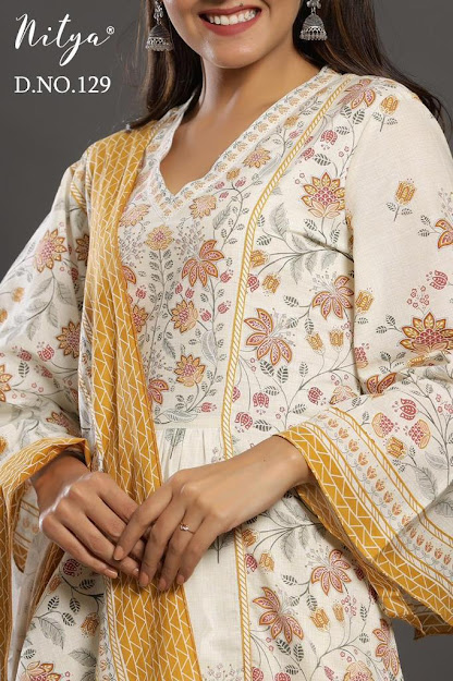 Design No 129 Lt Nitya Size Set Readymade Pant Style Dress Manufacturer Wholesaler