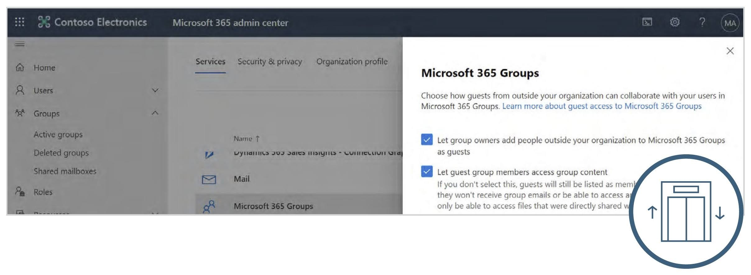 We can select once again if Owners can invite guests, this time specifically to Microsoft 365 Groups and if those guests can access Group content once they are a member.