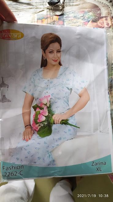 Ready At Store Zarina 2262 Shivani Designer Nighty Manufacturer Wholesaler