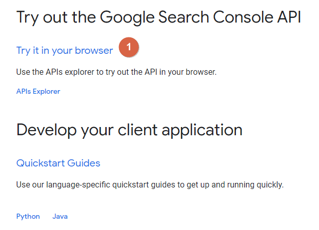 Try out the Google Search Console API