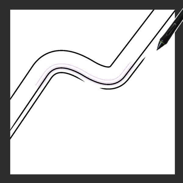 クリスタ特殊定規(平行曲線)を利用した描画