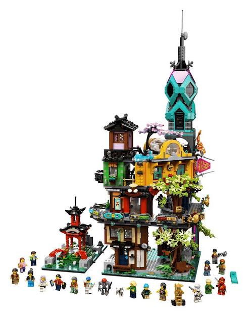 Contenido de LEGO® 71741 Jardines de la Ciudad de NINJAGO