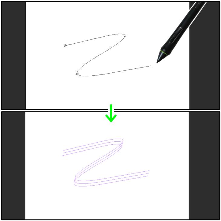 クリスタ特殊定規(多重曲線)の設置