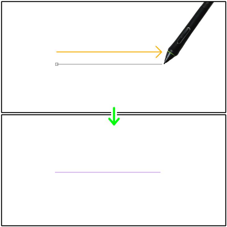 クリスタ直線定規(直線)の設置