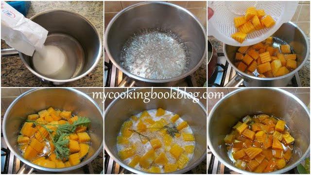 приготвяне на Сладко от тиква с орехи