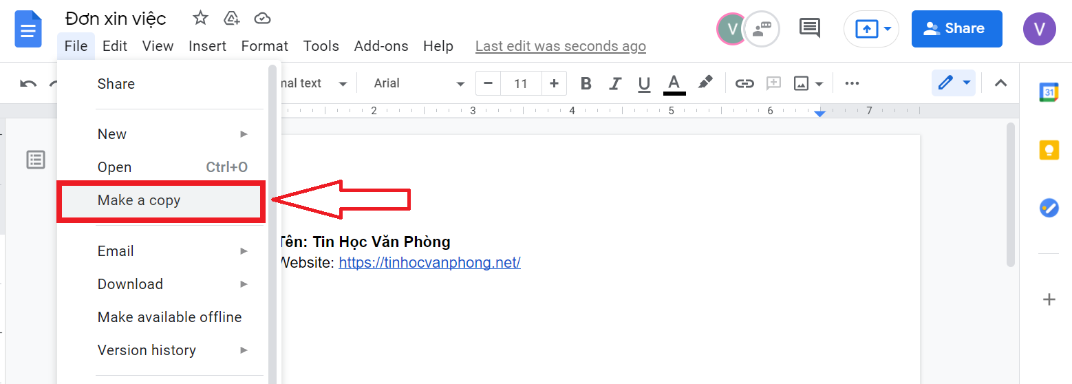 hướng dẫn cách lưu file trên google doc