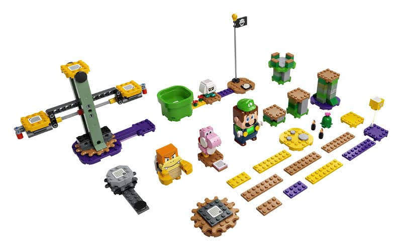 Contenido de LEGO® 71387 Pack Inicial: Aventuras con Luigi