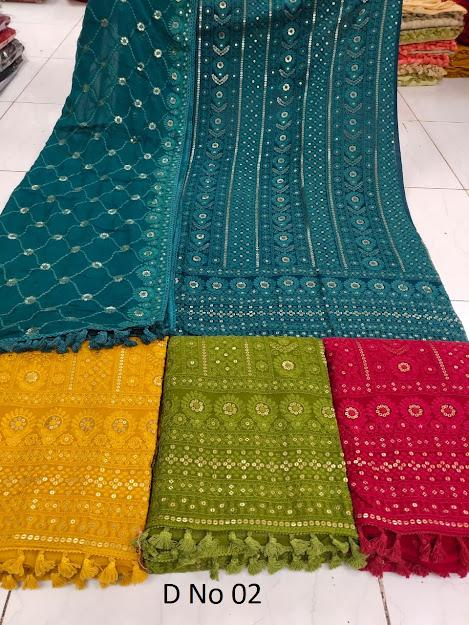 Lakhnavi Utsav Colour Chart Dress Material Manufacturer Wholesaler