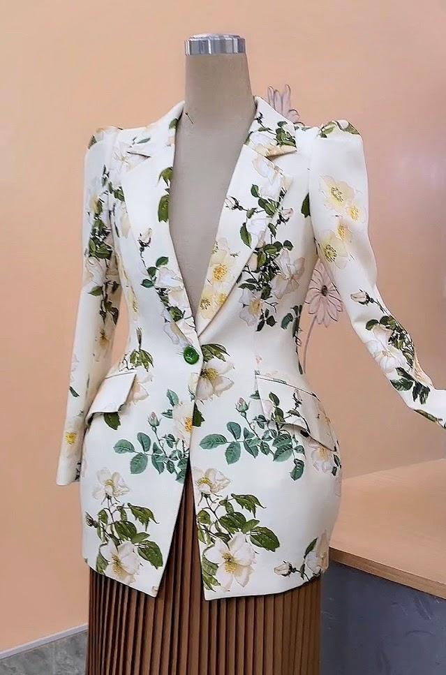 áo vest nữ dáng eo thiết kế phồng hông mặc đẹp thời trang thủy hải phòng
