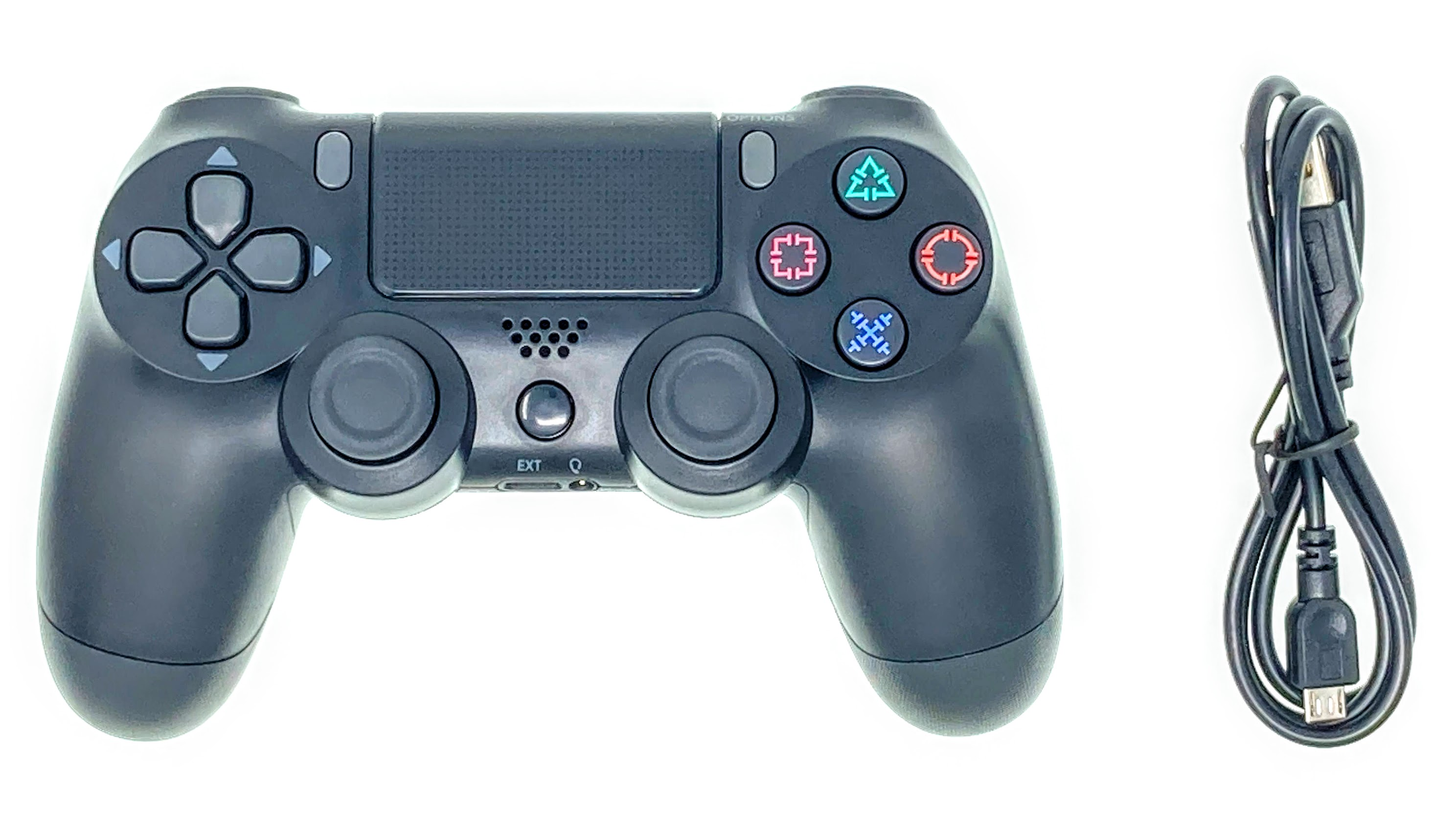 PS4 Joystick Controller top with cable