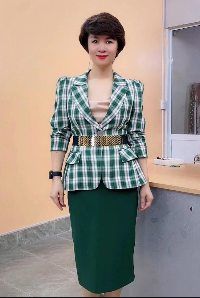 áo vest nữ công sở phồng hông dáng ngắn thời trang thủy hà nội