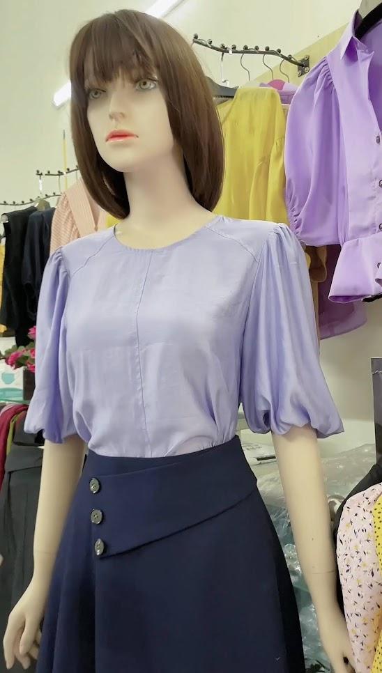 áo sơ mi nữ và chân váy xòe thời trang thủy thiết kế hà nội