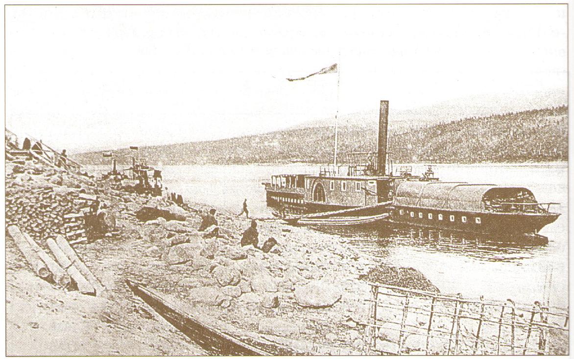 Первые пароходы на Бодайбинской пристани