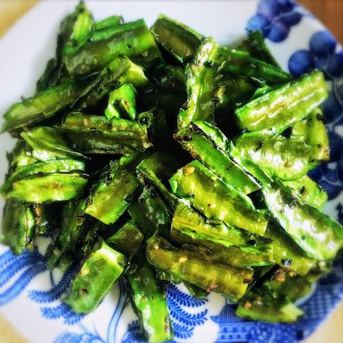 Winged Bean, Garlic, Stir Fry, Chinese, recipe,  stir fry, 蒜蓉, 炒翼豆