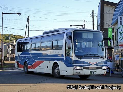 沿岸バス「13快速幌延留萌線」「56快速留萌旭川線」 ・709 幌延駅にて