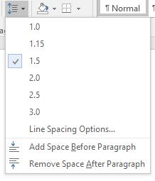 Tăng khoảng cách dòng trong word lên gấp đôi Ttrong Microsoft Word 2016