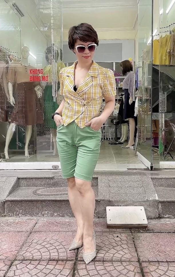 áo vest nữ công sở dáng ngắn mặc đẹp thời trang thủy hà nội
