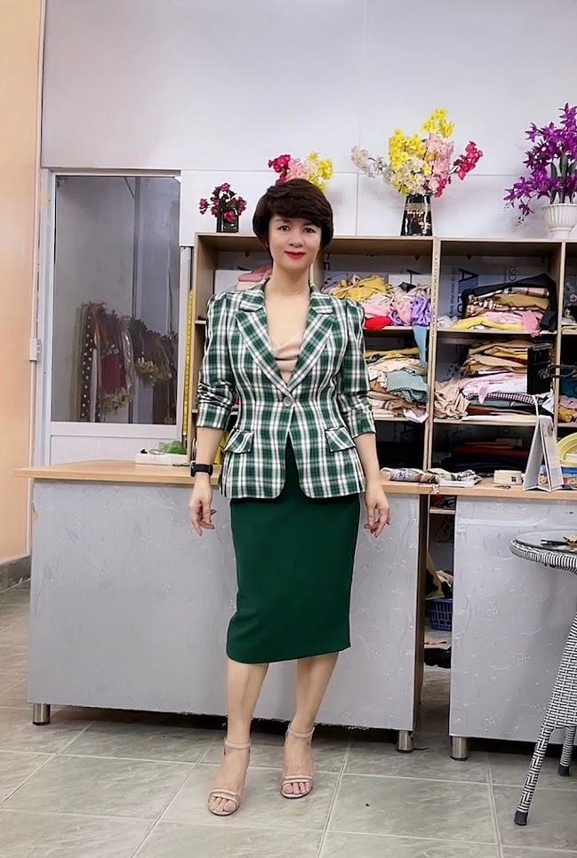 áo vest nữ công sở phồng hông dáng ngắn thời trang thủy thủy nguyên
