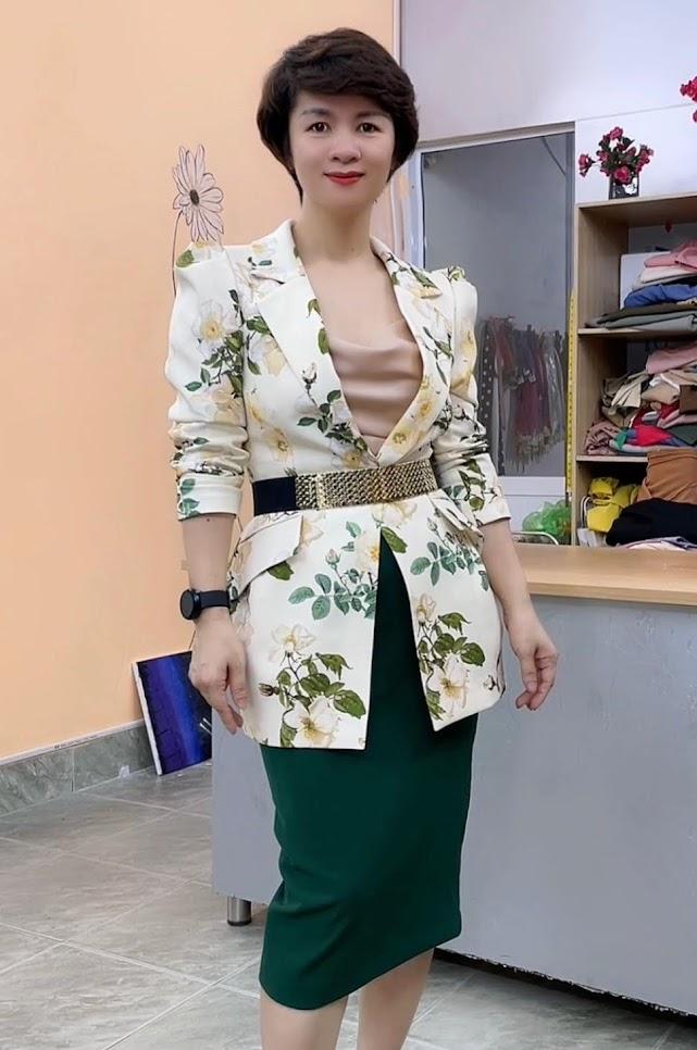áo vest nữ dáng eo thiết kế phồng hông mặc đẹp thời trang thủy hải dương