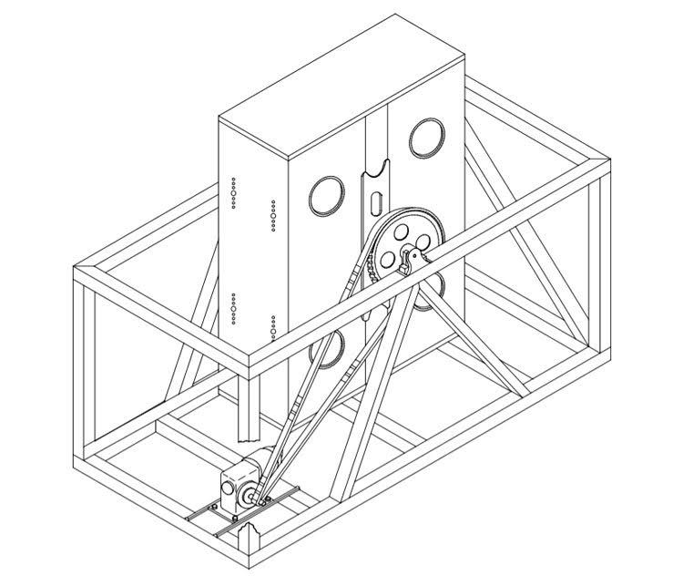 four cage random drop test machine