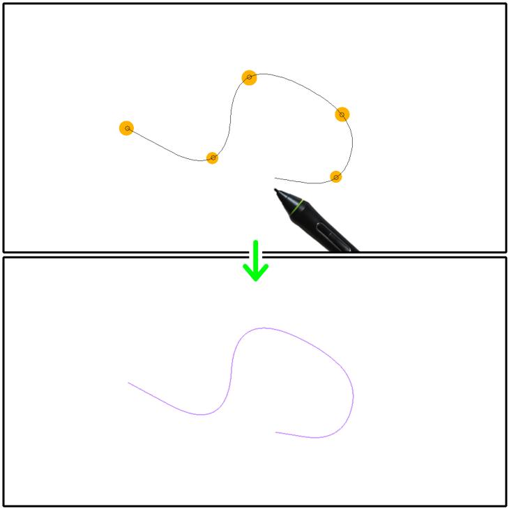 クリスタ曲線定規(スプライン)の設置