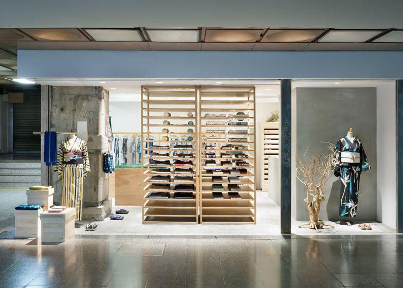 thiết kế cửa hàng kimono