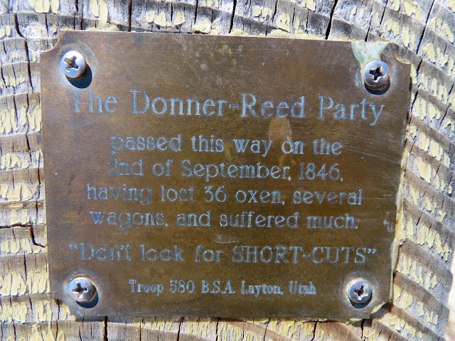Plaque at Donner-Reed Pass