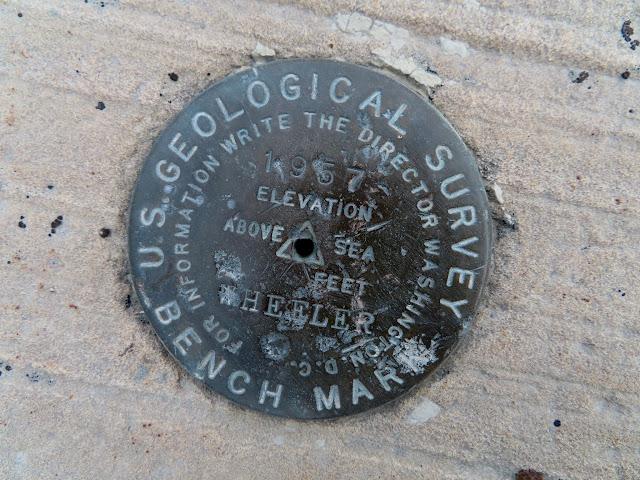 1957 Wheeler survey marker