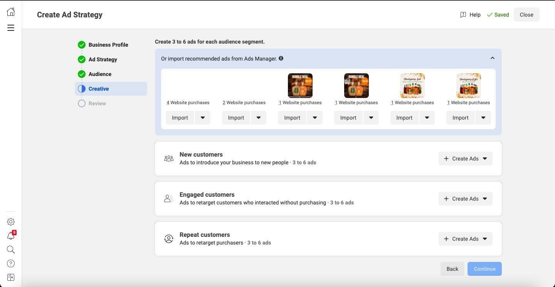 Facebook最近測試的新廣告自動化流程: Ad Strategies